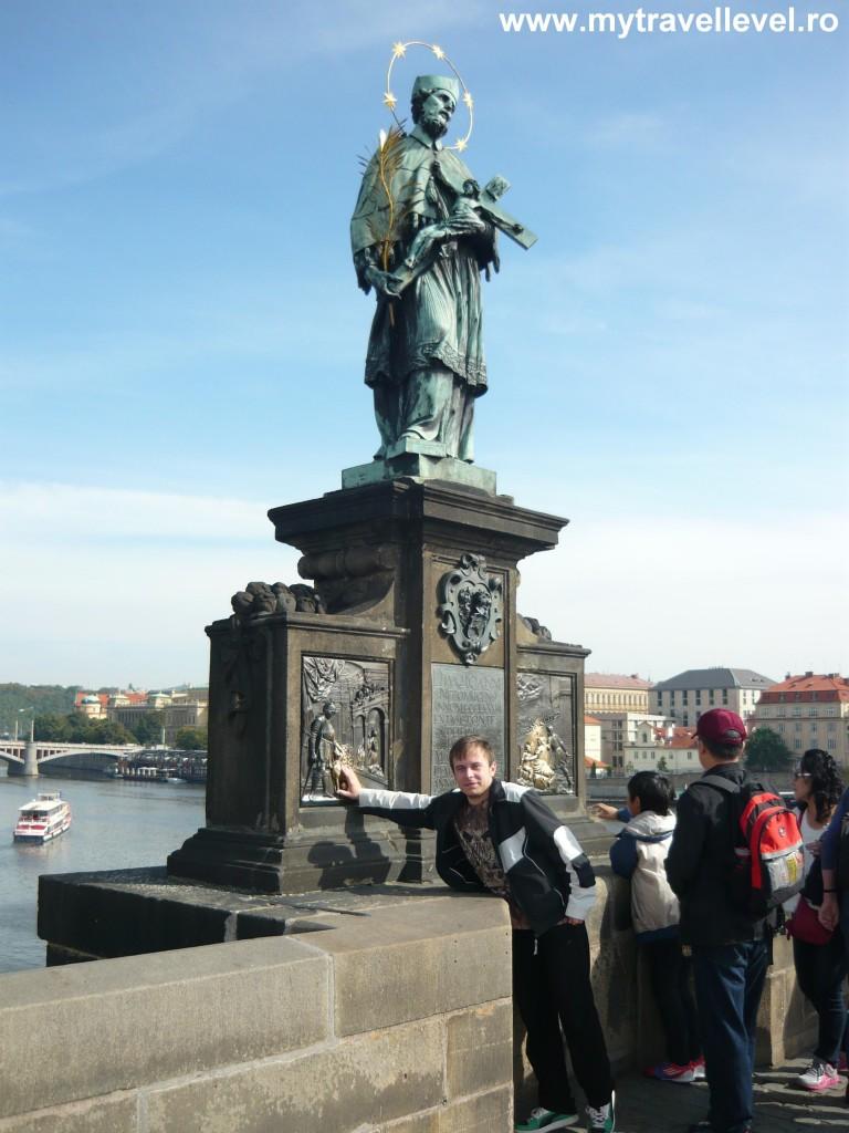 Statuie Nepomuk Podul Carol Praga