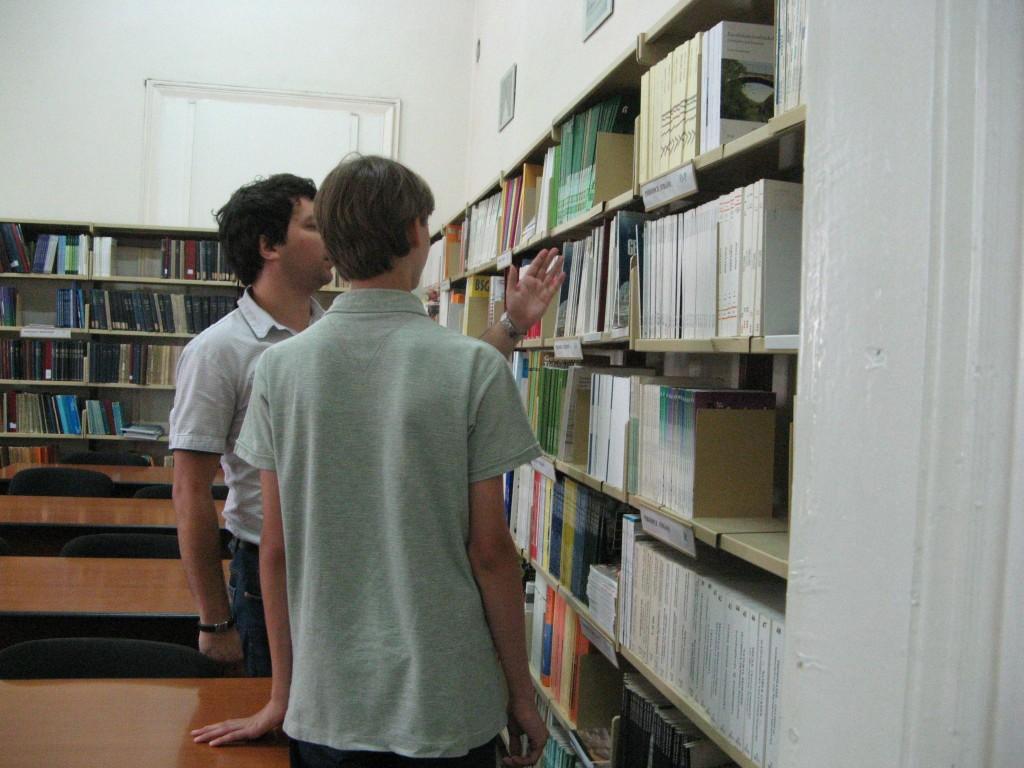 La biblioteca Facultatii de Geografie