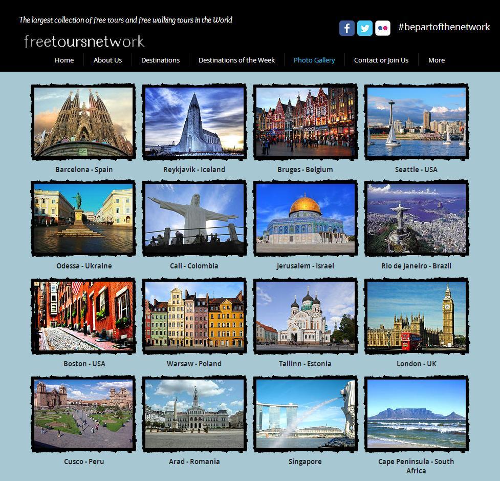 www.freetoursnetwork.com - site-ul care adună la un loc cea mai mare colecţie de tururi gratuite din lume