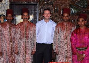 With locals in Pune, India